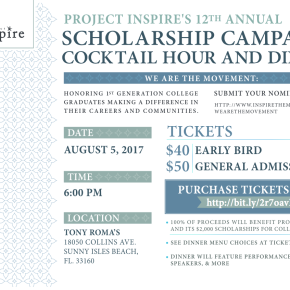 Project Inspire's annual event comes back to Miami August 5,2017!