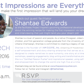 March 2016 Professional Development Webinar: First Impressions are Everything: How to Land Your DreamJob