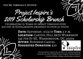 Join us at our 2019 Scholarship Brunch!
